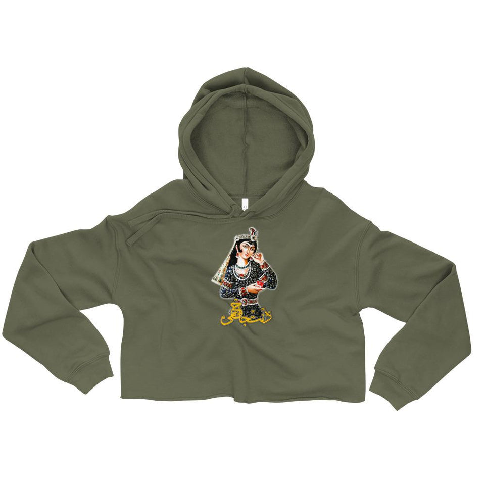 Dont Judge Me Crop Hoodie - Military Green / S - Crop Hoodie Geev Thegeev.com