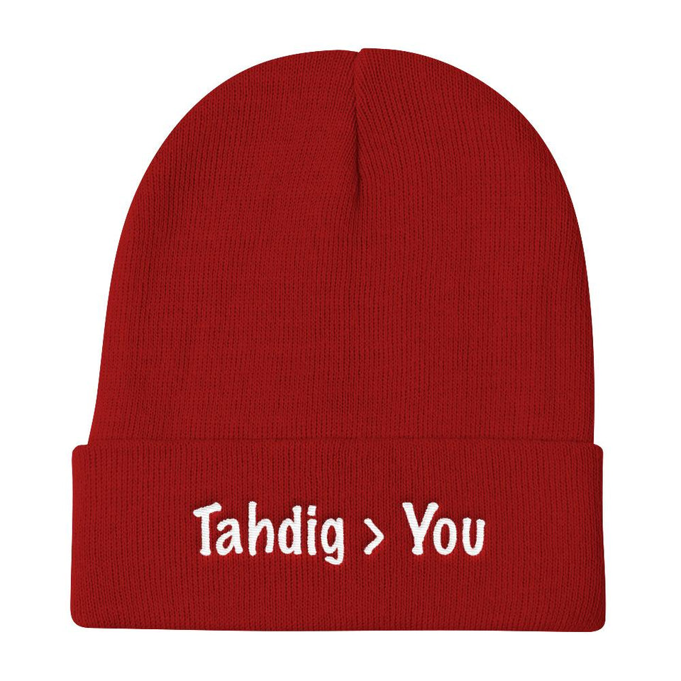 Tahdig - Red Without Pom - Beanies Geev Thegeev.com