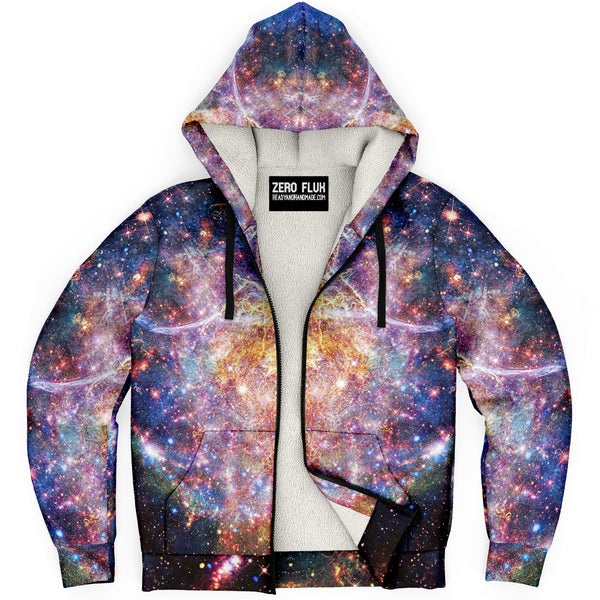 Niari's Shadow Psychedelic Fleece-Lined Zip-Up Hoodie