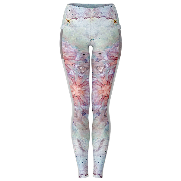 Aphrodite Psychedelic Mesh Pocket Leggings