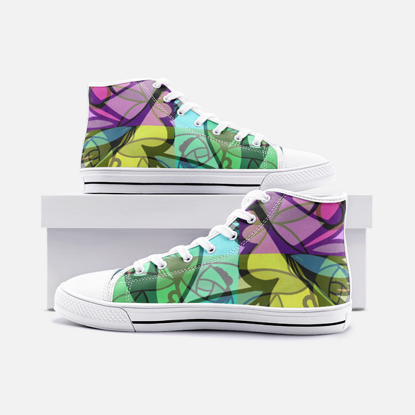 Pinwheel Pyxus Psychedelic Canvas High-Tops