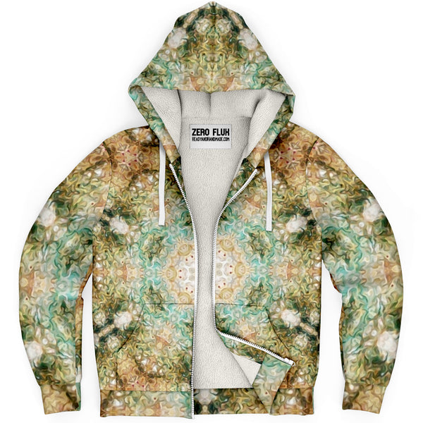 Amberwood Psychedelic Fleece-Lined Zip-Up Hoodie