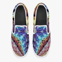 Ziggurat Psychedelic Slip-On Skate Shoes