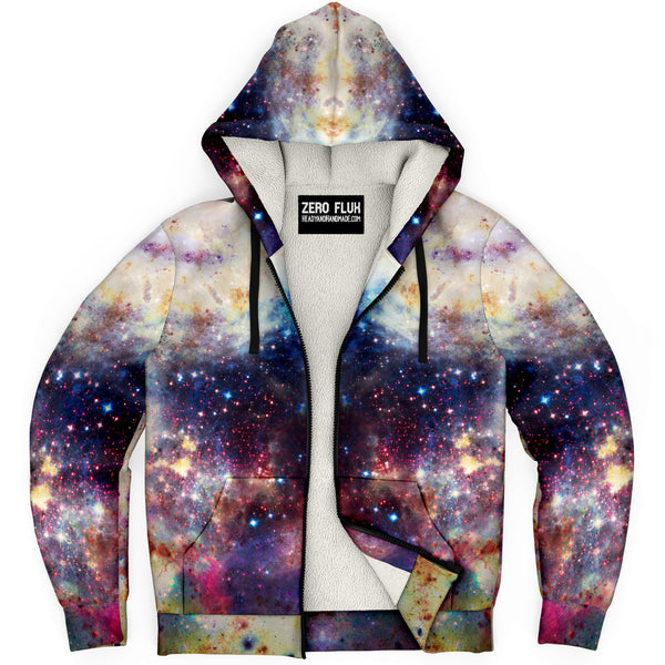 Baltus Psychedelic Fleece-Lined Zip-Up Hoodie
