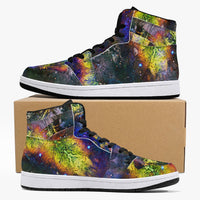Nox Glow Psychedelic Split-Style High-Top Sneakers