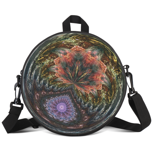 Wendigo's Bloom Psychedelic Round Rave Bag