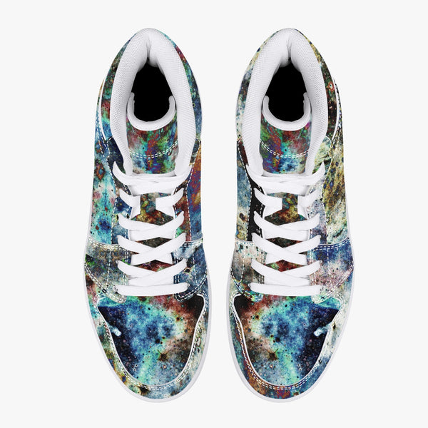 Lunix Psychedelic Split-Style High-Top Sneakers