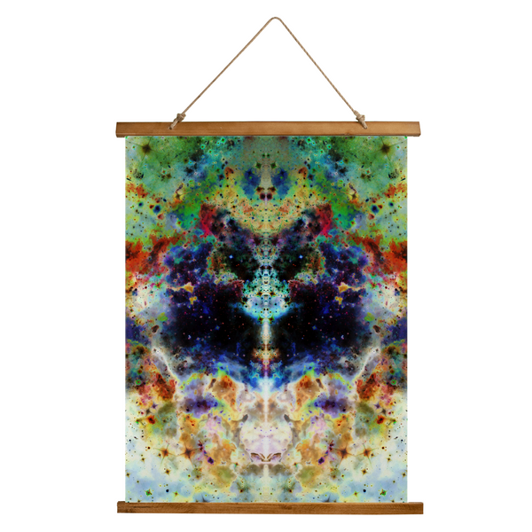 Acolyte Ethos Psychedelic Wooden Hanging Wall Tapestry