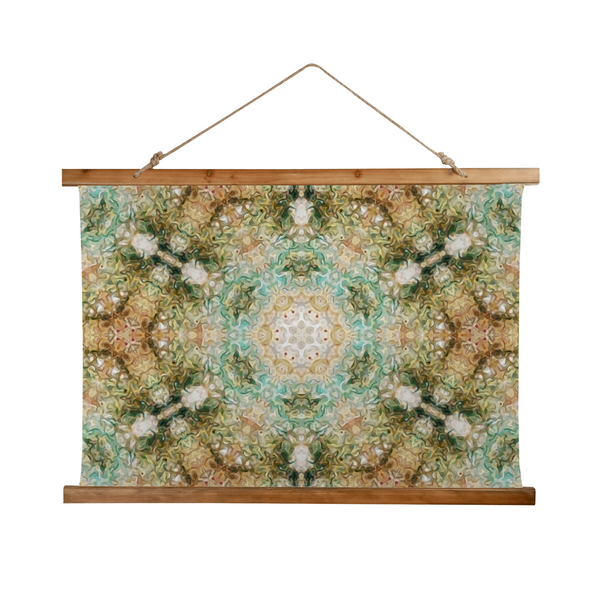 Amberwood Psychedelic Wooden Hanging Wall Tapestry