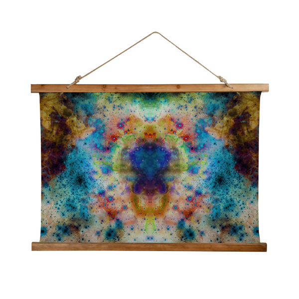 Acquiesce Nightshade Psychedelic Wooden Hanging Wall Tapestry