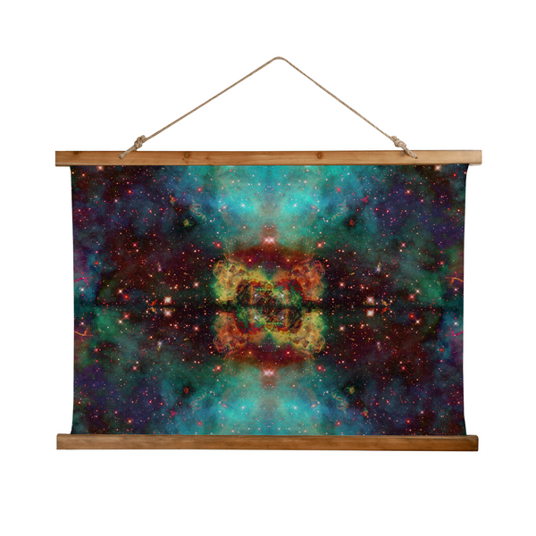Archon Psychedelic Wooden Hanging Wall Tapestry