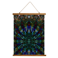 Azule Psychedelic Wooden Hanging Wall Tapestry
