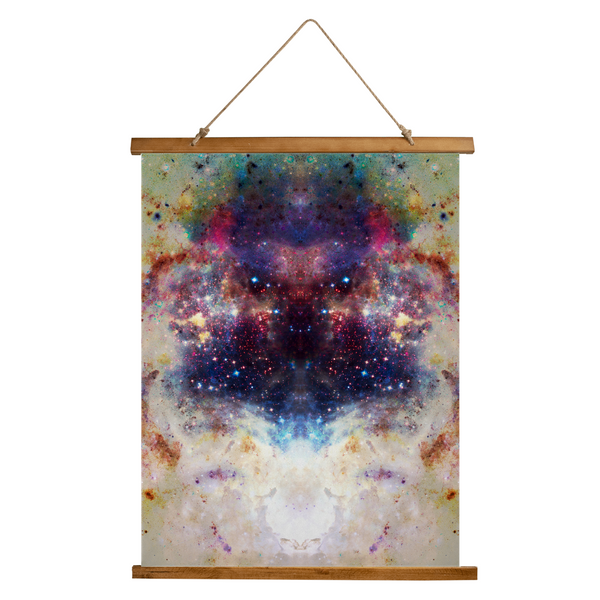 Baltus Psychedelic Wooden Hanging Wall Tapestry