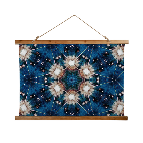 Beacon Psychedelic Wooden Hanging Wall Tapestry