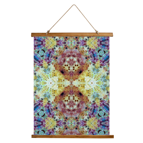 Conscious Psychedelic Wooden Hanging Wall Tapestry