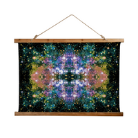 Ekhi Psychedelic Wooden Hanging Wall Tapestry