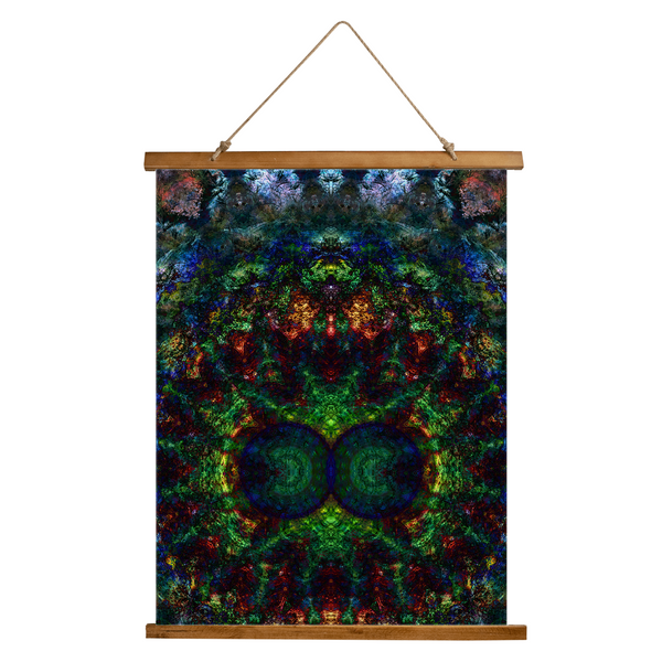 Epsilon Psychedelic Wooden Hanging Wall Tapestry