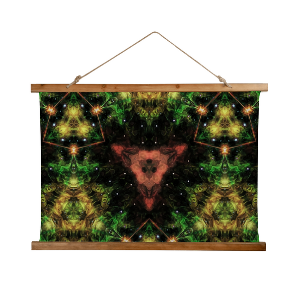 Esotarra Psychedelic Wooden Hanging Wall Tapestry