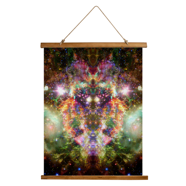 Ilstaag Psychedelic Wooden Hanging Wall Tapestry