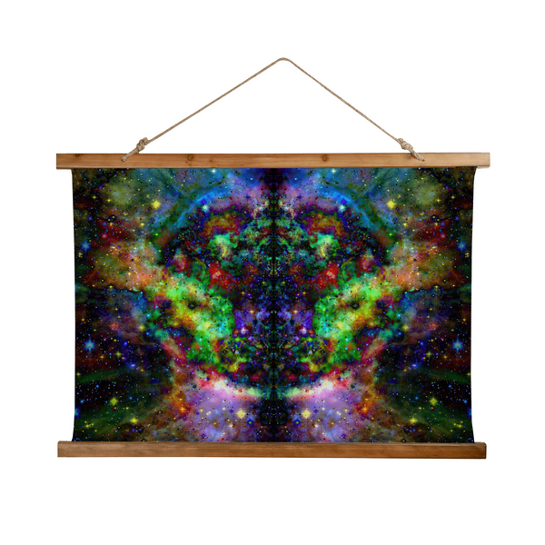 Kemrin Psychedelic Wooden Hanging Wall Tapestry