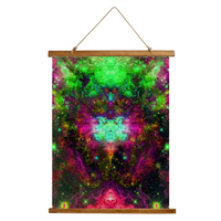 Lilith Psychedelic Wooden Hanging Wall Tapestry