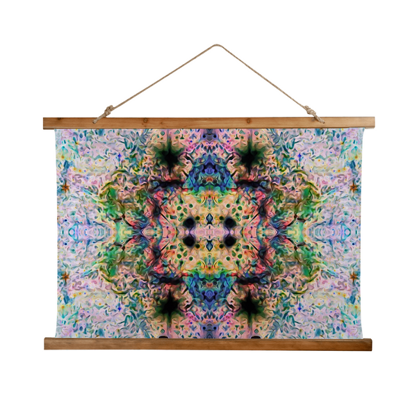 Lurian Wobble Psychedelic Wooden Hanging Wall Tapestry