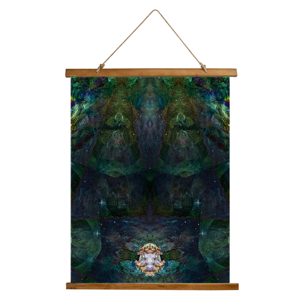 Pandora Psychedelic Wooden Hanging Wall Tapestry