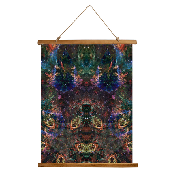 Prismyx Psychedelic Wooden Hanging Wall Tapestry