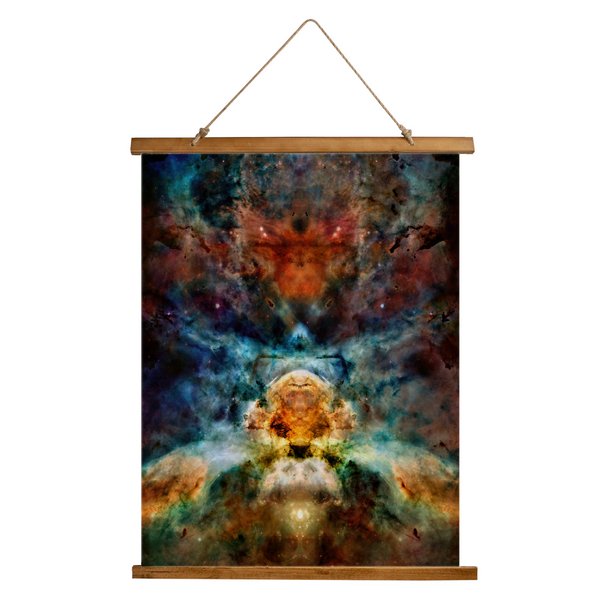 Sylas Psychedelic Wooden Hanging Wall Tapestry