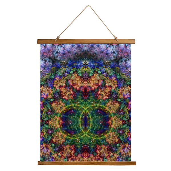 Starflow Psychedelic Wooden Hanging Wall Tapestry