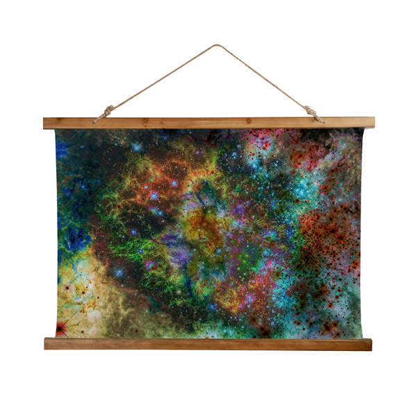 Supernova Psychedelic Wooden Hanging Wall Tapestry