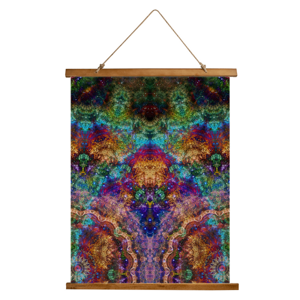Unitas Psychedelic Wooden Hanging Wall Tapestry