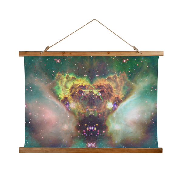 Ursus Lyren Psychedelic Wooden Hanging Wall Tapestry