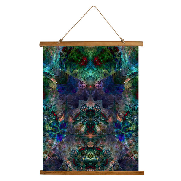 Valendrin Psychedelic Wooden Hanging Wall Tapestry