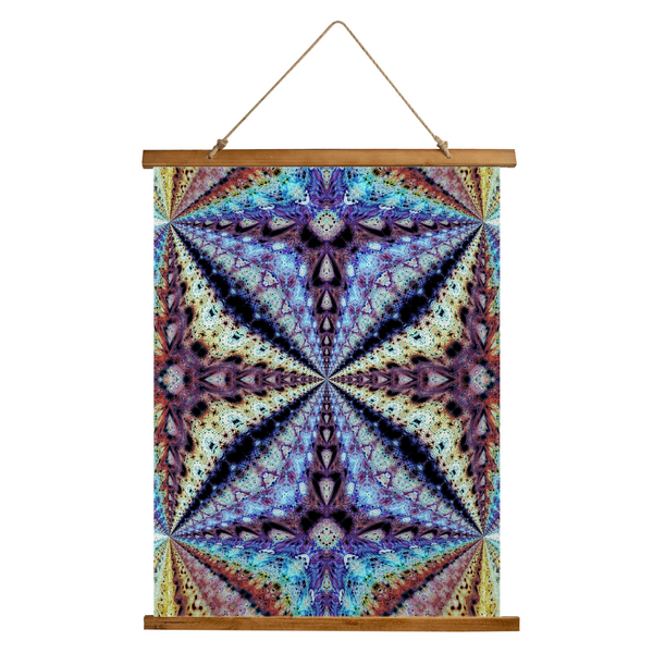 Ziggurat Psychedelic Wooden Hanging Wall Tapestry