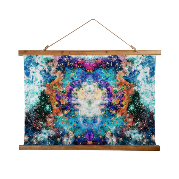 Acquiesce Apothos Psychedelic Wooden Hanging Wall Tapestry