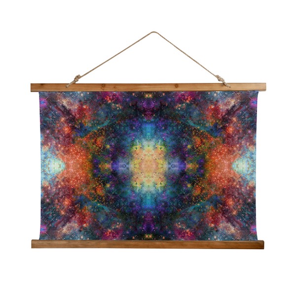 Fortuna Psychedelic Wooden Hanging Wall Tapestry