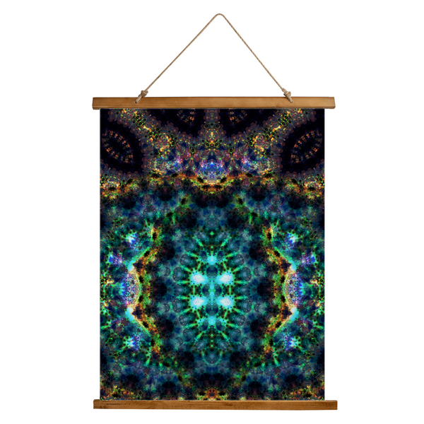 Ceres Psychedelic Wooden Hanging Wall Tapestry