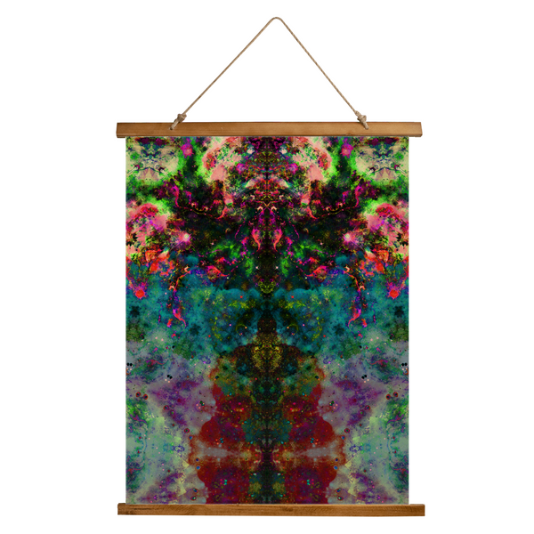 Lucid Psychedelic Wooden Hanging Wall Tapestry