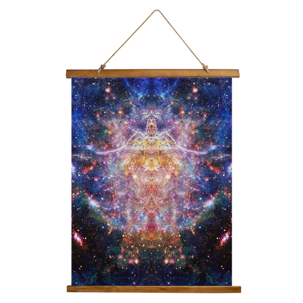 Niari's Shadow Psychedelic Wooden Hanging Wall Tapestry