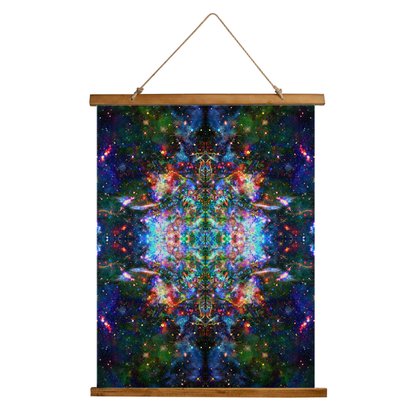 Oriarch Psychedelic Wooden Hanging Wall Tapestry