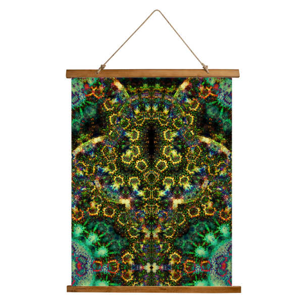 Xerxes Psychedelic Wooden Hanging Wall Tapestry