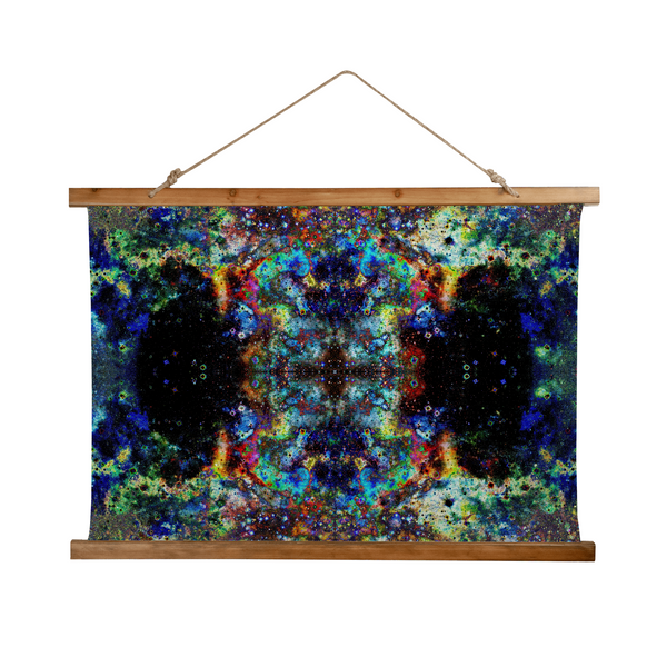 Apoc Psychedelic Wooden Hanging Wall Tapestry