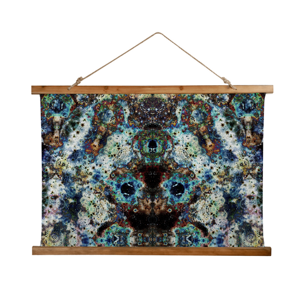 Lunix Psychedelic Wooden Hanging Wall Tapestry
