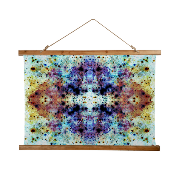 Regail Psychedelic Wooden Hanging Wall Tapestry