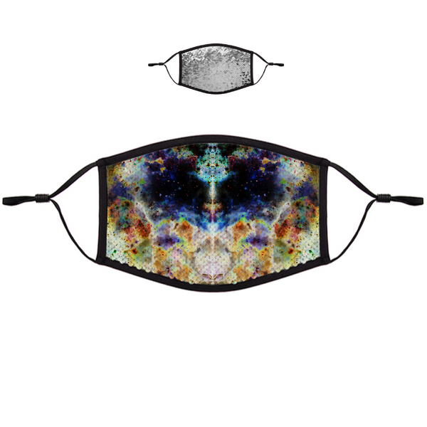 Acolyte Ethos Psychedelic Flip-Sequin Face Mask