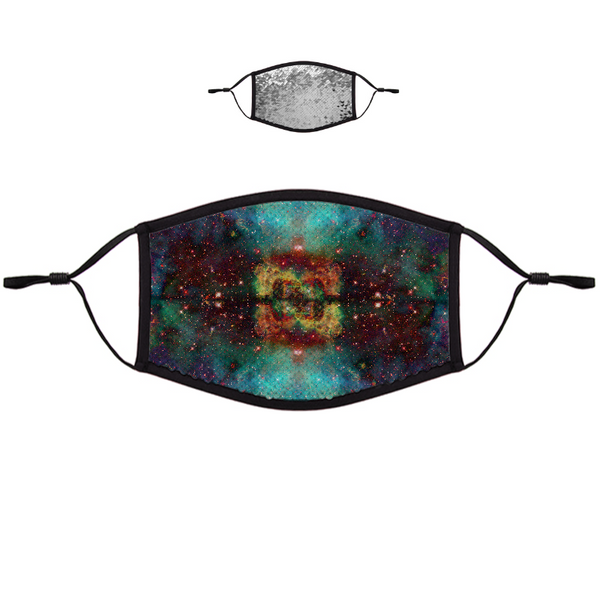 Archon Psychedelic Flip-Sequin Face Mask