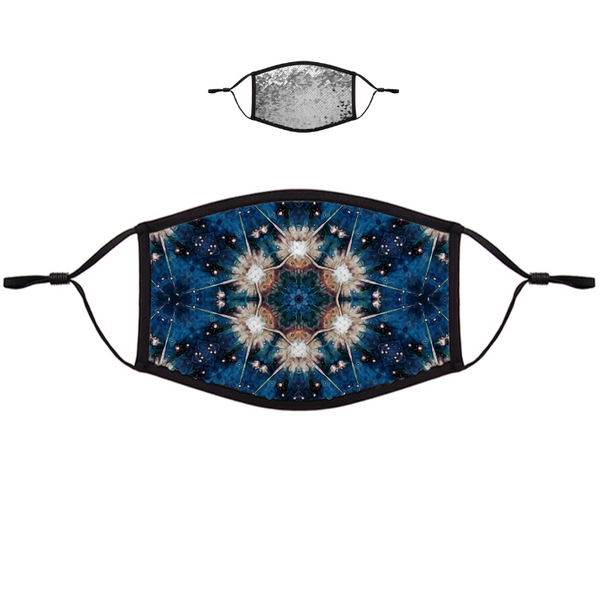 Beacon Psychedelic Flip-Sequin Face Mask