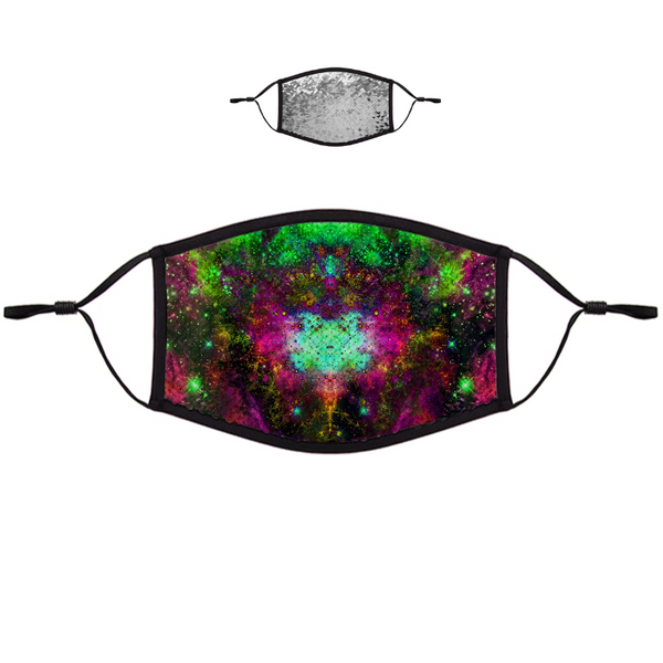 Lilith Psychedelic Flip-Sequin Face Mask