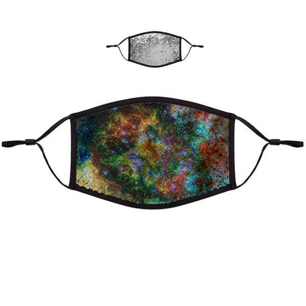 Supernova Psychedelic Flip-Sequin Face Mask